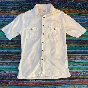 👔 White shirt sleeve button down men's sz S